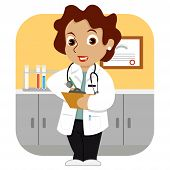 Doctor In The Office_stock