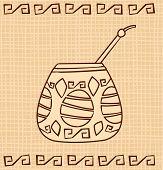 Vector Calabash with Bombilla