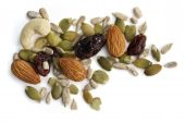 image of dry fruit  - Trail mix of nuts seeds and dried fruit - JPG