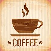 vector coffee icon, brush stroke style