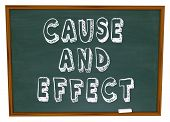 Cause and Effect Chalk Board Experiment Lesson