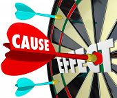 Cause and Effect Dart Board Winning Results