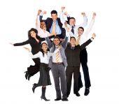 Empresarios emocionado