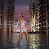 Sci Fi Cyborg Woman