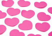 Heart Shaped Adhesive Notes Background