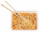 Eating Of Prepared Instant Noodles