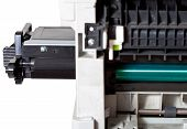Maintenance Printer With Inserting Toner Cartridge