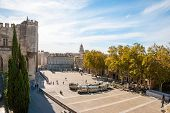 picture of avignon  - Square at Pope - JPG