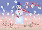 Card Snowman The Violinist