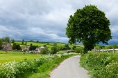 Scenic country road in England