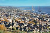 View over City of Dundee in Scotland
