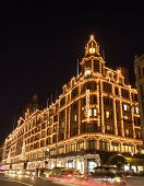 Harrods lit up for Christmas