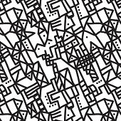 seamless vector doodle background pattern