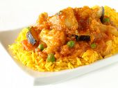 vegetable curry with pilau rice