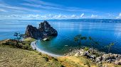 Shaman Rock, Island Of Olkhon, Lake Baikal, Russia