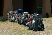 Backpacks Ready For The Trail