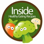 Healthy Eating Sticker vector