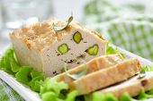 Chicken terrine with pistachios