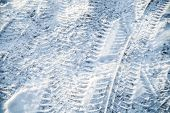 Background Texture Of Snowbound Urban Road