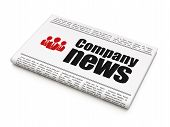 News news concept: newspaper with Company News and Business People