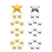 Gold And Silver Stars Rating