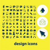 internet design icons set, vector