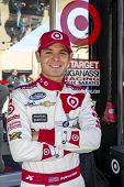 Fort Worth, TX - Apr 04, 2014:  Kyle Larson (42) poses for a few before taking to the track for a pr