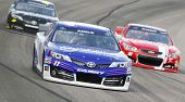 Fort Worth, TX - Apr 04, 2014:  Denny Hamlin (11) takes to the track for a practice session for the