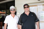 LOS ANGELES - APR 14:  David Spade, Kevin Farley at the Jack Wagner Anuual Golf Tournament benefitti