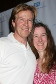 LOS ANGELES - APR 14:  Jack Wagner, Erin Geddie (Fan who traveled to attend) at the Jack Wagner Anuu