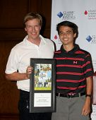 LOS ANGELES - APR 14:  Jack Wagner, Quinten Lepak at the Jack Wagner Anuual Golf Tournament benefitt