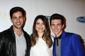 LOS ANGELES - APR 17:  Josh Peck, Miranda Cosgrove, Drake Bell at the Drake Bell's Album Release Par