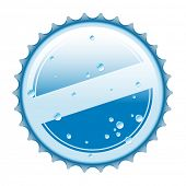 Illustration of bottle cap from water, on a white background.