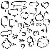 Speech Bubble And Symbols Set, Vector Illustration