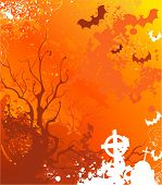Orange Background On Halloween