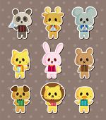 Cartoon Animal Waiter Stickers