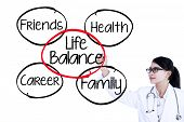Doctor Writes Life Balance Concept