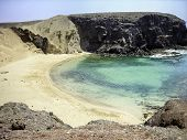 picture of papagayo  - aerial view of the papagayo beach in Canary Lanzarote