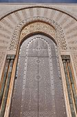 Gates Of The Hassan Ii Mosque, Located In Casablanca Is The Largest Mosque In Morocco And The Th