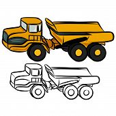 pic of dumper  - Vector illustration  - JPG