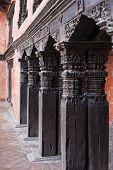 Wooden Column At Durbar Square