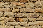Stone Wall Background Horizontal
