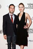 NEW YORK-APR 17: Actor Chris Marquette (L) and producer Emily Isacson attend the 'When the Garden Wa