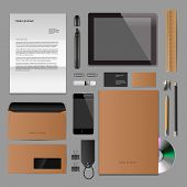 Corporate identity mock-up classic style
