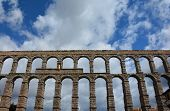 Roman aqueduct in Segovia Spain.
