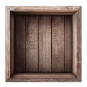 picture of wooden crate  - wooden box or crate top view isolated on white - JPG