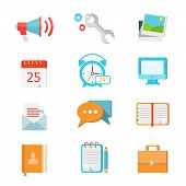 Set of flat colorful vector icons