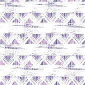 Ethnic zigzag hand drawn pattern