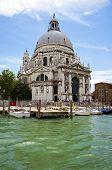 Venice, Italy - June 10, 2010: Santa Maria della Salute church, view from Canale della Giudecca.