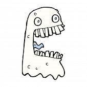 stock photo of grossed out  - cartoon gross ghost - JPG